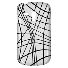 Black And White Decorative Lines Samsung Galaxy S3 Mini I8190 Hardshell Case by Valentinaart