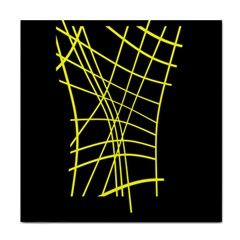 Yellow Abstraction Tile Coasters by Valentinaart