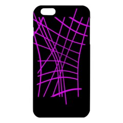 Neon Purple Abstraction Iphone 6 Plus/6s Plus Tpu Case by Valentinaart