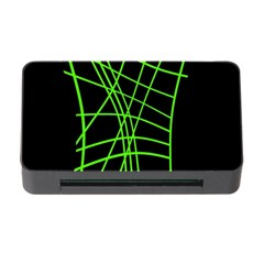 Green Neon Abstraction Memory Card Reader With Cf by Valentinaart