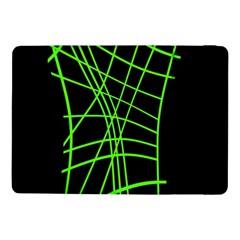 Green Neon Abstraction Samsung Galaxy Tab Pro 10 1  Flip Case by Valentinaart