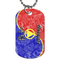 08-Autumne Dog Tag (Two-sided)  by BankStreet