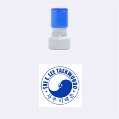 Taeeleestamp Blue Small Small Rubber Stamp (round) by TheDean