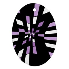 Purple Abstraction Oval Ornament (two Sides) by Valentinaart
