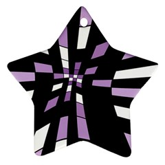 Purple Abstraction Star Ornament (two Sides)  by Valentinaart