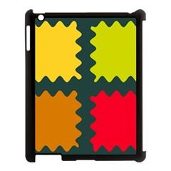 4 Shapes                                                                                 apple Ipad 3/4 Case (black) by LalyLauraFLM
