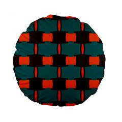 3 Colors Shapes Pattern                                                                                  standard 15  Premium Flano Round Cushion by LalyLauraFLM