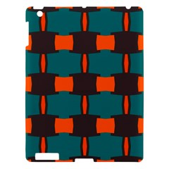 3 Colors Shapes Pattern                                                                                  apple Ipad 3/4 Hardshell Case by LalyLauraFLM