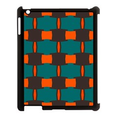 3 Colors Shapes Pattern                                                                                  apple Ipad 3/4 Case (black) by LalyLauraFLM