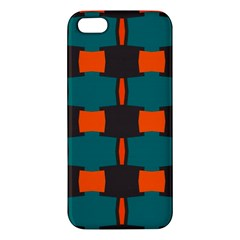 3 Colors Shapes Pattern                                                                                  			apple Iphone 5 Premium Hardshell Case by LalyLauraFLM