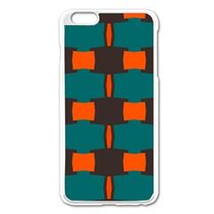 3 Colors Shapes Pattern                                                                                  apple Iphone 6 Plus/6s Plus Enamel White Case by LalyLauraFLM