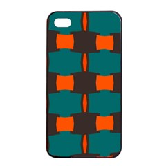 3 Colors Shapes Pattern                                                                                  			apple Iphone 4/4s Seamless Case (black) by LalyLauraFLM