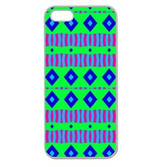 Rhombus And Stripes                                                                                   apple Seamless Iphone 5 Case (clear) by LalyLauraFLM