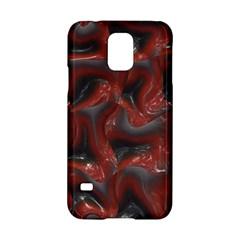 Red Grey 3d Design                                                                                    samsung Galaxy S5 Hardshell Case by LalyLauraFLM
