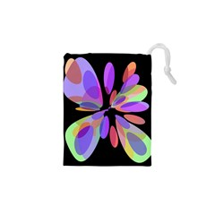 Colorful abstract flower Drawstring Pouches (XS)  by Valentinaart