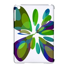 Green abstract flower Apple iPad Mini Hardshell Case (Compatible with Smart Cover) by Valentinaart