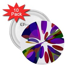 Colorful Abstract Flower 2 25  Buttons (10 Pack)  by Valentinaart