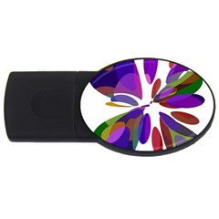 Colorful abstract flower USB Flash Drive Oval (2 GB)