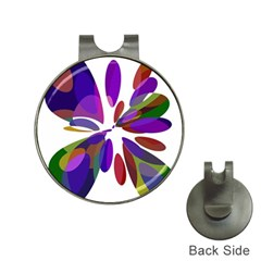 Colorful Abstract Flower Hat Clips With Golf Markers by Valentinaart
