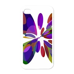 Colorful Abstract Flower Apple Iphone 4 Case (white) by Valentinaart