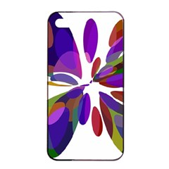 Colorful Abstract Flower Apple Iphone 4/4s Seamless Case (black) by Valentinaart