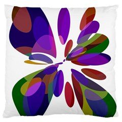 Colorful abstract flower Large Flano Cushion Case (Two Sides) by Valentinaart