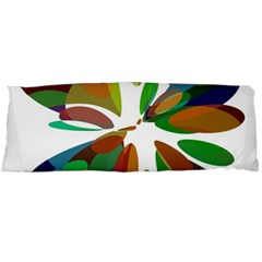 Colorful Abstract Flower Body Pillow Case (dakimakura) by Valentinaart