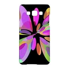 Pink Abstract Flower Samsung Galaxy A5 Hardshell Case  by Valentinaart