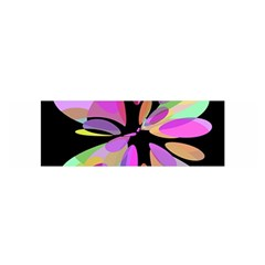 Pink abstract flower Satin Scarf (Oblong)
