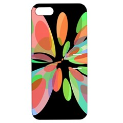 Colorful Abstract Flower Apple Iphone 5 Hardshell Case With Stand by Valentinaart