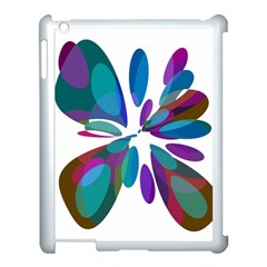 Blue Abstract Flower Apple Ipad 3/4 Case (white) by Valentinaart