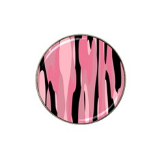 Black And Pink Camo Abstract Hat Clip Ball Marker (4 Pack) by TRENDYcouture