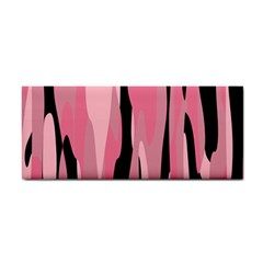 Black And Pink Camo Abstract Hand Towel by TRENDYcouture
