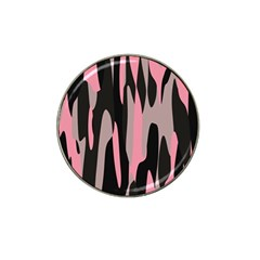 Pink And Black Camouflage Abstract 2 Hat Clip Ball Marker (10 Pack) by TRENDYcouture