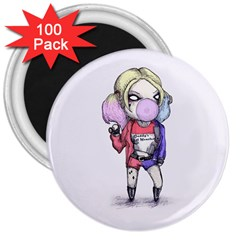 Suicide Harley 3  Magnets (100 Pack) by lvbart