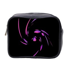 Purple Twist Mini Toiletries Bag 2 Side by Valentinaart