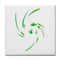 Green Twist Face Towel by Valentinaart