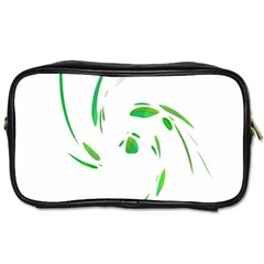 Green Twist Toiletries Bags 2 Side by Valentinaart