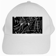 Gray Abstraction White Cap by Valentinaart
