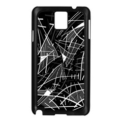 Gray Abstraction Samsung Galaxy Note 3 N9005 Case (black) by Valentinaart