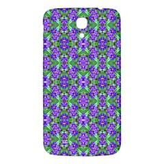Pretty Purple Flowers Pattern Samsung Galaxy Mega I9200 Hardshell Back Case by BrightVibesDesign