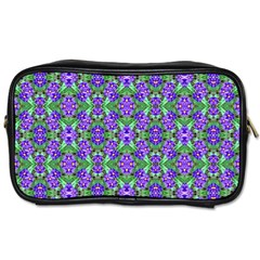 Pretty Purple Flowers Pattern Toiletries Bags 2 Side by BrightVibesDesign