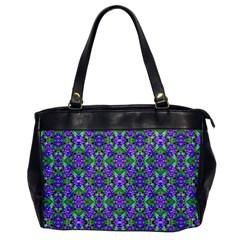 Pretty Purple Flowers Pattern Office Handbags by BrightVibesDesign