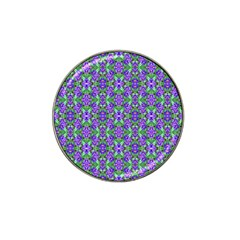 Pretty Purple Flowers Pattern Hat Clip Ball Marker (10 Pack) by BrightVibesDesign
