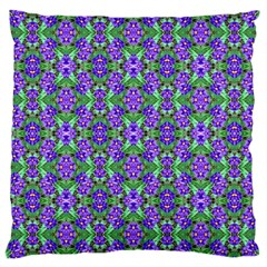 Pretty Purple Flowers Pattern Large Cushion Case (two Sides) by BrightVibesDesign