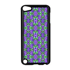 Pretty Purple Flowers Pattern Apple Ipod Touch 5 Case (black) by BrightVibesDesign