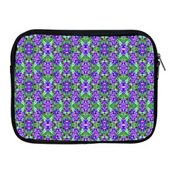Pretty Purple Flowers Pattern Apple Ipad 2/3/4 Zipper Cases by BrightVibesDesign