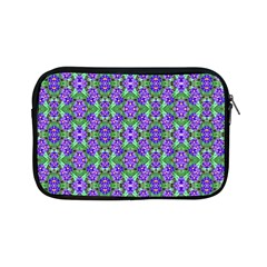 Pretty Purple Flowers Pattern Apple Ipad Mini Zipper Cases by BrightVibesDesign