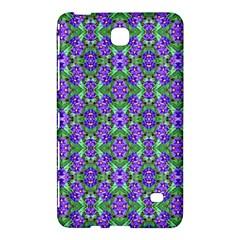 Pretty Purple Flowers Pattern Samsung Galaxy Tab 4 (7 ) Hardshell Case  by BrightVibesDesign