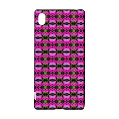 Pretty Pink Flower Pattern Sony Xperia Z3+ by BrightVibesDesign